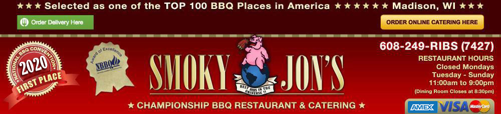 Smoky Jon's #1 BBQ Restaurant & Catering of Madison, WI – Call 608-249-RIBS (7427)