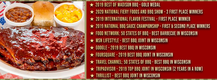 Smoky Jon's number 1 bbq 2019 awards
